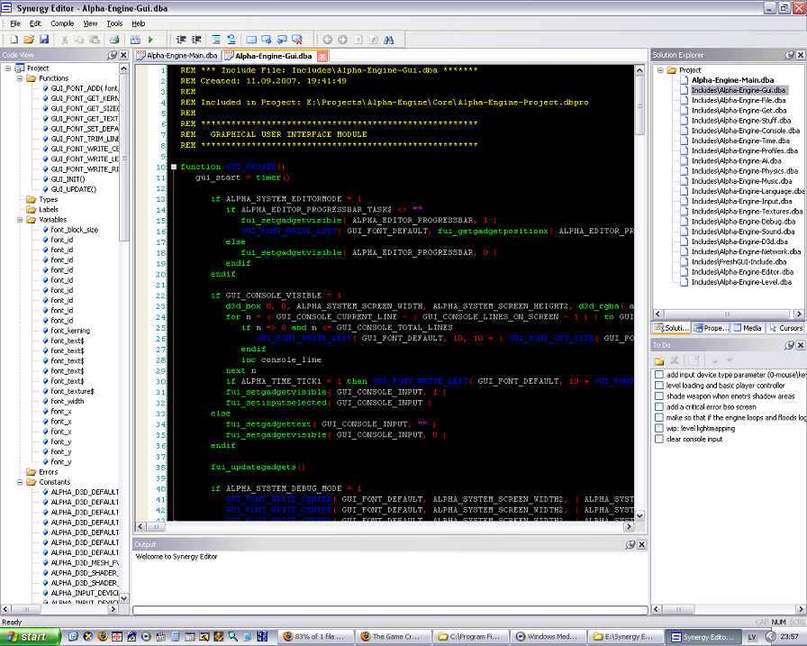 Synergy Editor - IDE for DarkBasic Professional